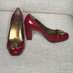 Michael Shannon Women's Heel Red Patent Leather 6M